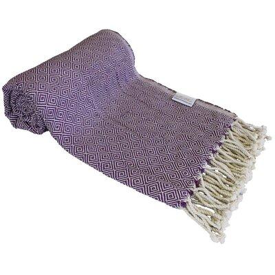 Diamond Turkish Beach Towel Color: Purple