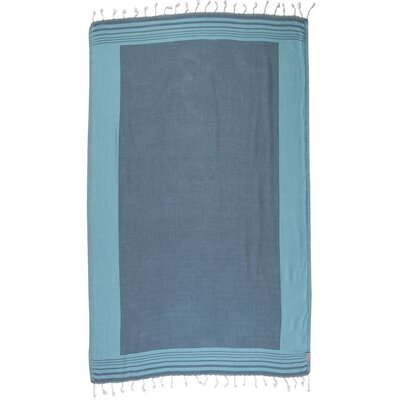 Double Face Turkish 100% Cotton Beach Towel Color: Turquoise/Blue