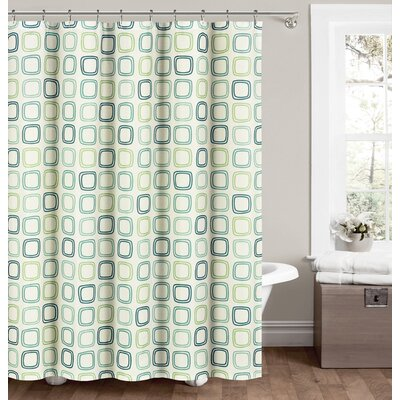 Jorgensen Shower Curtain Color: Seafoam