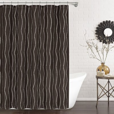 Meera Shower Curtain Color: Chocolate