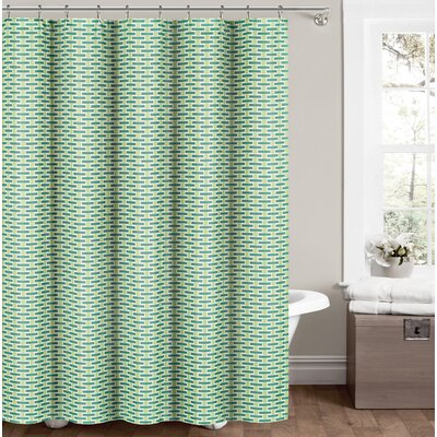 Gary Shower Curtain Color: Seafoam