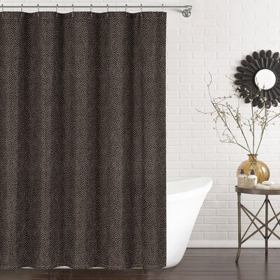 Mei Shower Curtain Color: Chocolate