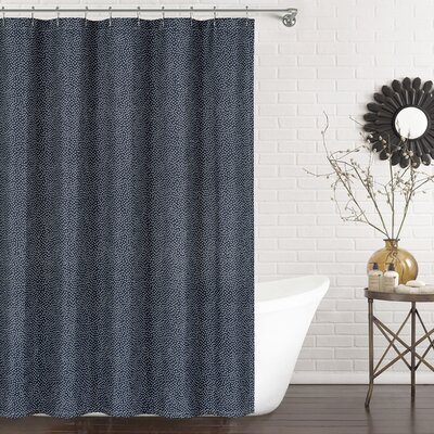 Mei Shower Curtain Color: Navy
