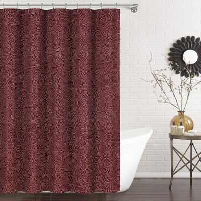 Mei Shower Curtain Color: Burgundy