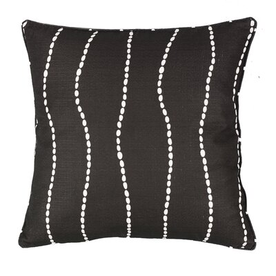 Meera Throw Pillow Color: Chocolate