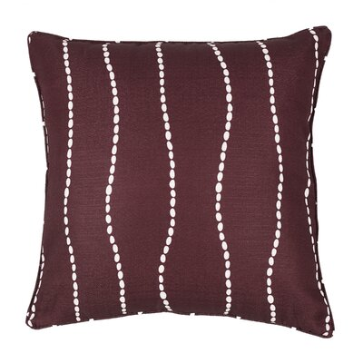 Meera Throw Pillow Color: Burgundy