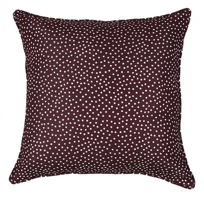Mei Throw Pillow Color: Burgundy