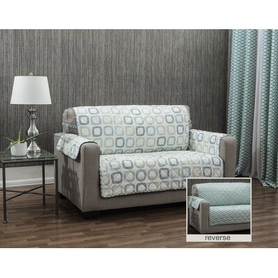 Ron Chereskin Geo-basketweave Microfiber/Polyester Sofa Slipcover Upholstery: Seafoam