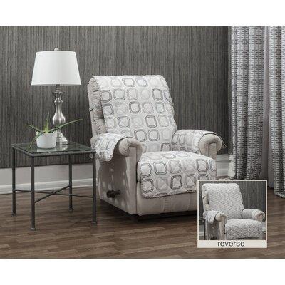 Ron Chereskin Geo-basketweave Microfiber/Polyester Recliner Slipcover Upholstery: Neutral