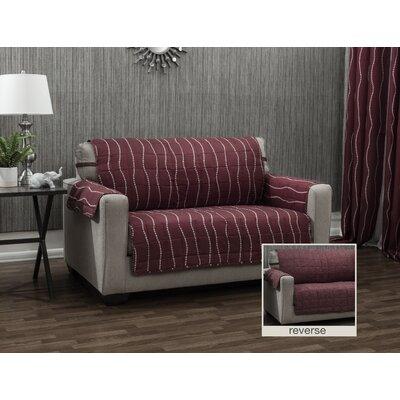 Ron Chereskin Pearls Microfiber/Polyester Sofa Slipcover Upholstery: Burgundy