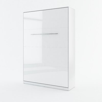 Calvin Wall Bed Color: White Gloss, Size: 85.4 H x 60.2 W x 93.3 D