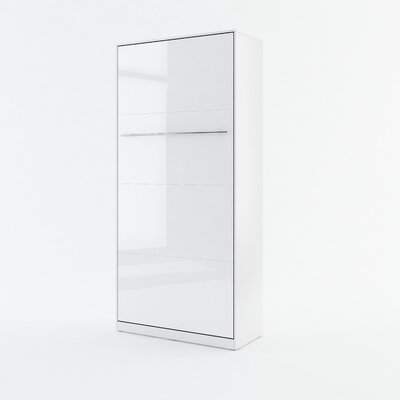 Calvin Wall Bed Color: White Gloss, Size: 85.4 H x 40.9 W x 93.3 D