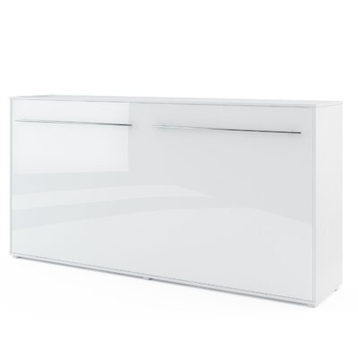 Van Wyck Murphy Bed Size: Queen, Finish: White Gloss