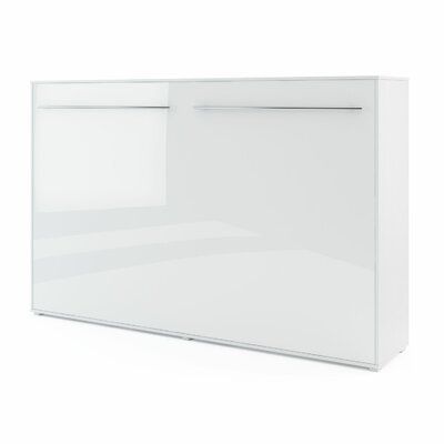 Clearwater Murphy Bed Color: White Gloss, Size: 42.2 H x 84.6 W x 50 D