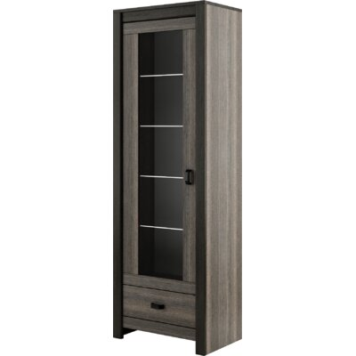 Brianna 1 Door Display Standard China Cabinet
