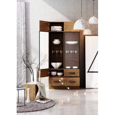 Holly Rustic Wood Standard Display Cabinet