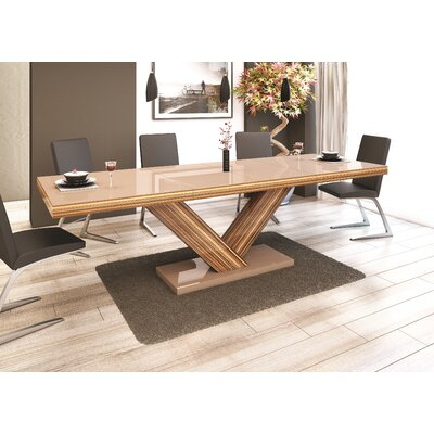 Belva Dining Table Finish: Oak/Cappuccino