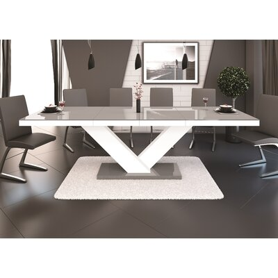 Belva Dining Table Finish: Gray/White