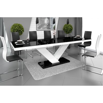 Thurmont Top Dining Table Base Color / Top Color: White/Black