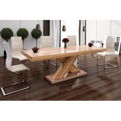 Walkersville Leaf Dining Table Finish: Oak/Cappuccino