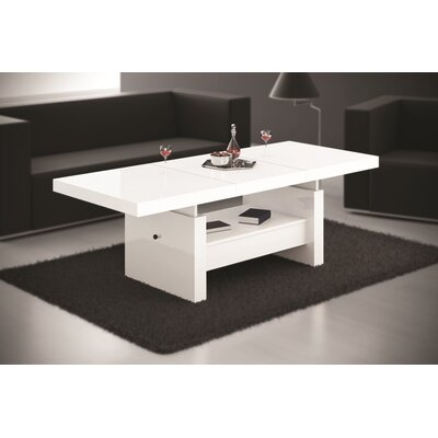 Celine Coffee Table with Lift Top Finish: White Gloss