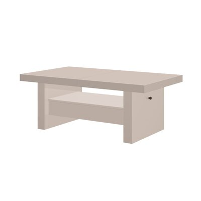 Celine Lift Top Coffee Table Color: Cappuccino Gloss