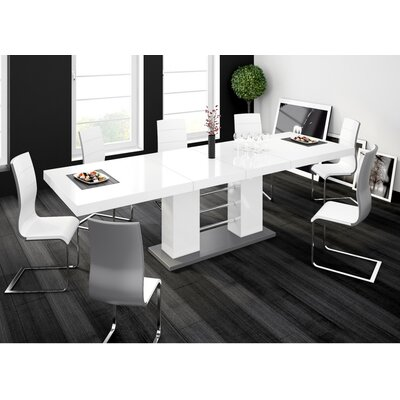 Domenique Extendable Dining Table Finish: White