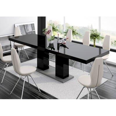 Domenique Extendable Dining Table Finish: Black
