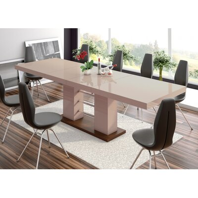 Domenique Extendable Dining Table Finish: Cappuccino
