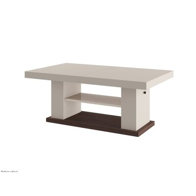 Sasha Lift Top Coffee Table Color: Cappuccino Gloss