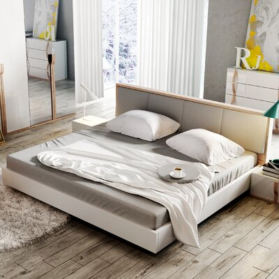 Alice Gloss Queen Faux Leather Platform Bed