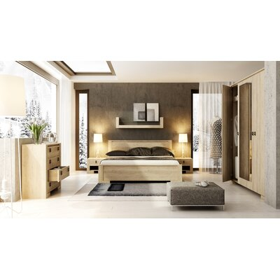 Terrell Queen Storage Platform Bed with Mattress