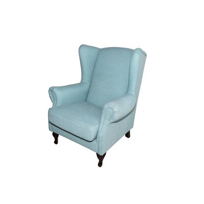 Caldervale Wingback Chair Upholstery: Light Blue