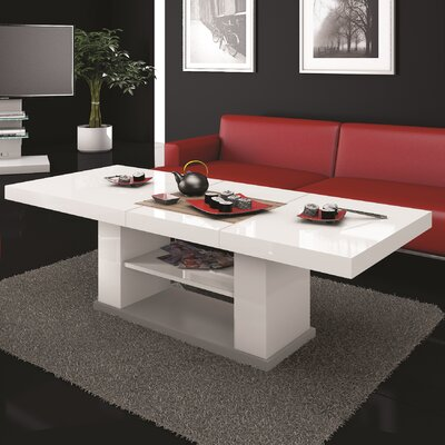 Sasha Coffee Table with Lift Top Finish: White Gloss