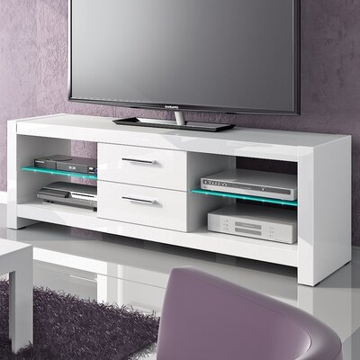 Dina 60 TV Stand Color: White