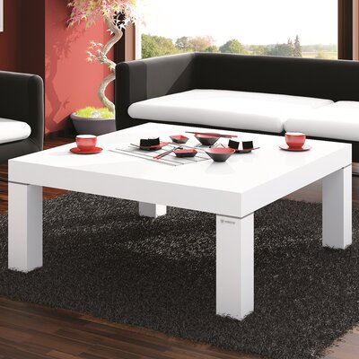 Kiera Coffee Table Color: White Gloss