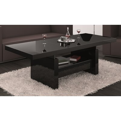 Celine Lift Top Coffee Table Color: Black Gloss