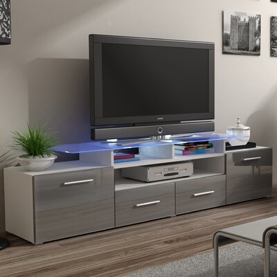 Damian 76 TV Stand Color: Gray