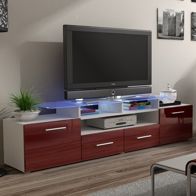 Damian 76 TV Stand Color: Red