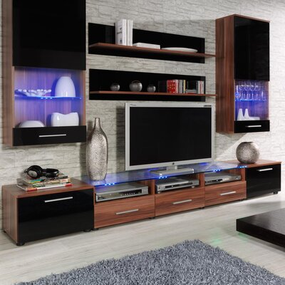 Maulik Entertainment Center Color: Plum/Black