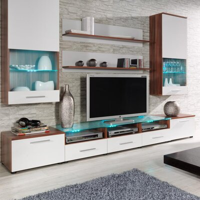 Maulik Entertainment Center Color: Plum/White