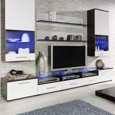 Maulik Entertainment Center Color: Wenge/White
