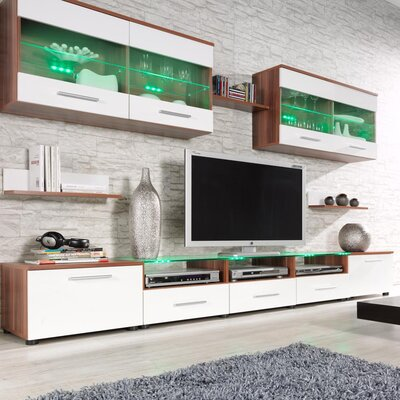 Cerie Entertainment Center Color: Plum/White