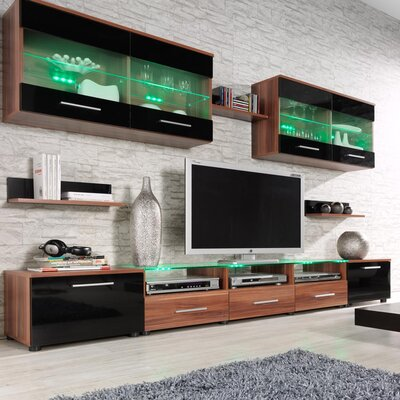 Cerie Entertainment Center Color: Plum/Black