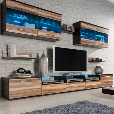 Cerie Entertainment Center Color: Wenge/Nut Baltimor