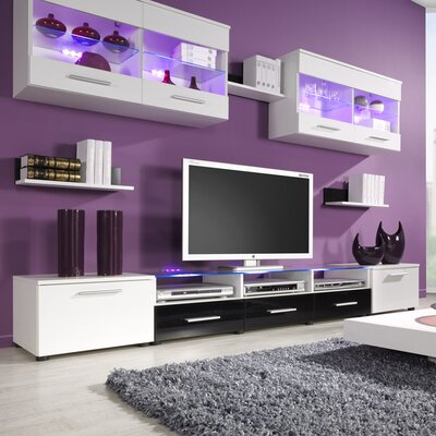 Cerie Entertainment Center Color: White/Black