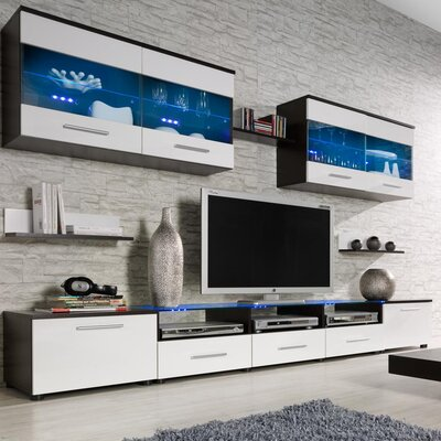 Cerie Entertainment Center Color: Wenge/White