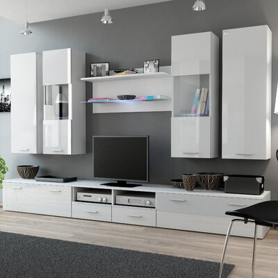 Cosmo Entertainment Center Color: White Gloss