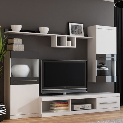 Boley Entertainment Center Color: White/Black