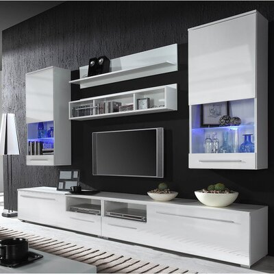 Jorah Entertainment Center Color: White Gloss